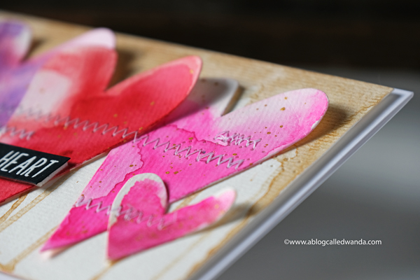 watercolor hearts. stephanie ackerman for sizzix dies