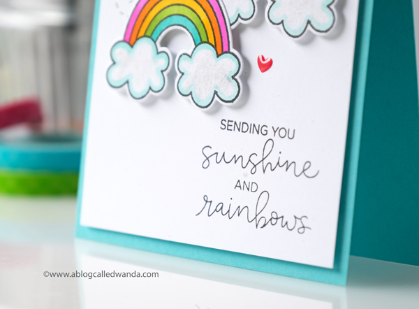 Hello Bluebird Rainbow Script stamp set