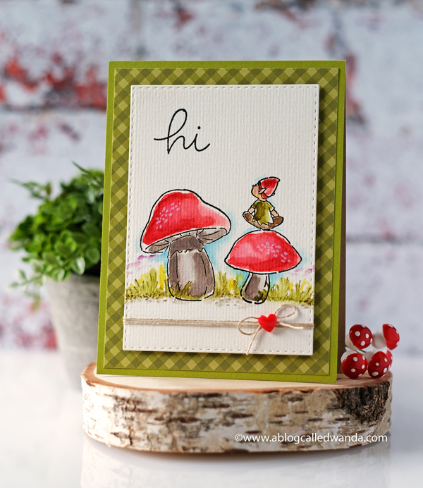 art impressions water color mushrooms and elves