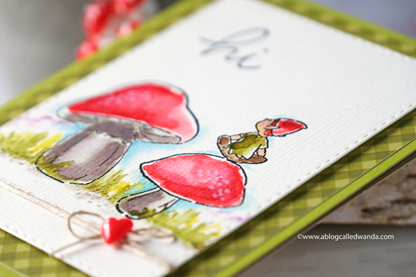 art impressions watercolor stamping
