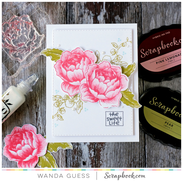 Altenew Rose Blossom stamp set from Scrapbook.com
