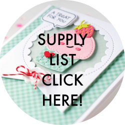 Cupcake Card Supply List
