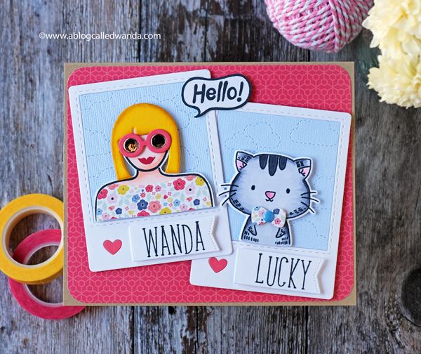 Waffle Flower Be Her and Go Girl stamp sets. Echo Park Paper. Wanda Guess