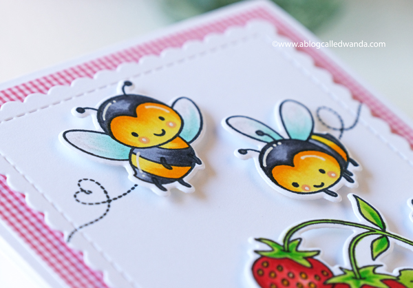Hello Bluebird stamps bee happy