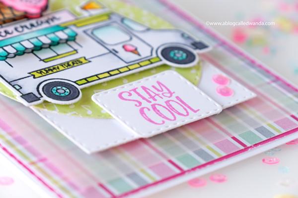 Catherine Pooler Hello Sunshine Collection Ice Cream Card. Copics. Wanda Guess