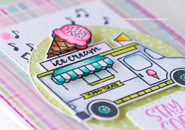 Catherine Pooler Hello Sunshine Collection Ice Cream Card. Copics. Wanda Guess