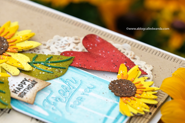 Vintage crafts. Sunflowers and mason jars stamps and dies