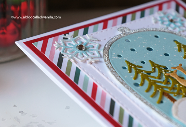 Spellbinders winter card. Snow globe card with die cutting. Christmas card ideas