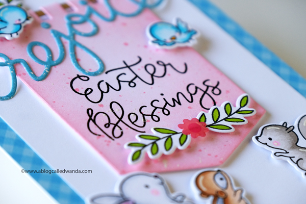 Hello Bluebird Stamps. Banner Buddies. Animals. Easter and Spring. Copics. Distress Ink Blending