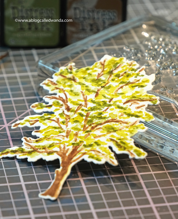 Betsy Veldman new trees stamps. watercolor