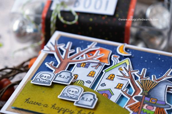 Reverse Confetti Halloween Gnomes card