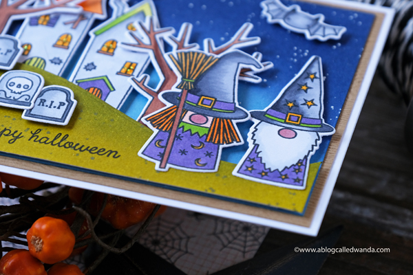 Reverse Confetti Halloween Gnomes stamps and dies