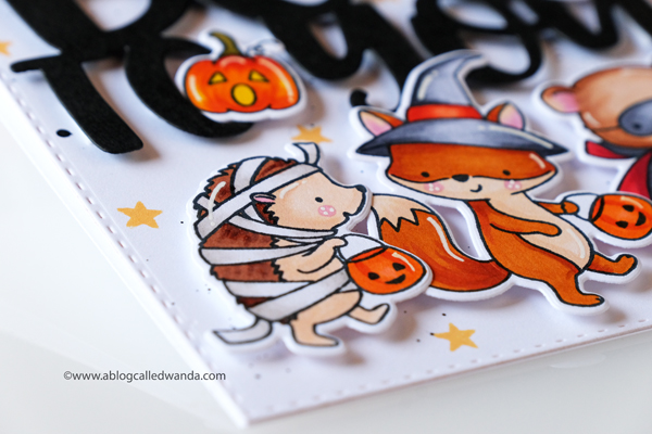 Halloween card ideas. Handmade with stamps and dies and copic markers