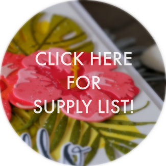 Altenew Hibiscus card supply list