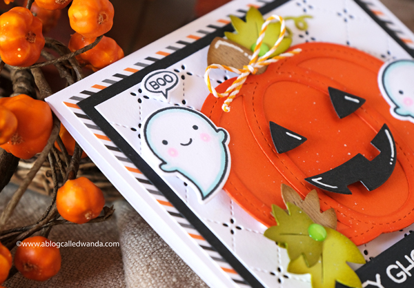 LAWN FAWN BOOYAH STAMP SET GHOSTS AND PUMPKINS FOR HALLOWEEN