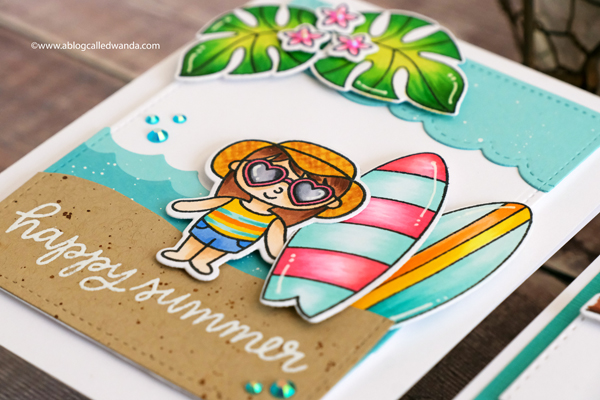 Pretty Pink Posh summer card. Wanda Guess