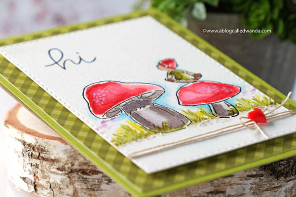 handmade card distress ink watercolor