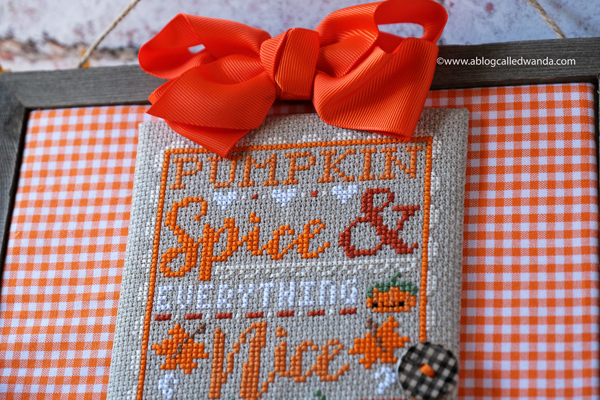 Pumpkin Spice Cross Stitch