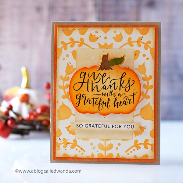Taylored Expressions Masking Stencils Autumn Card. Wanda Guess