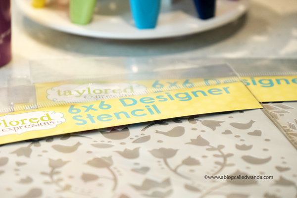 Using stencils for card making