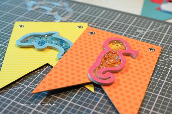 ocean theme shaker cards and ideas