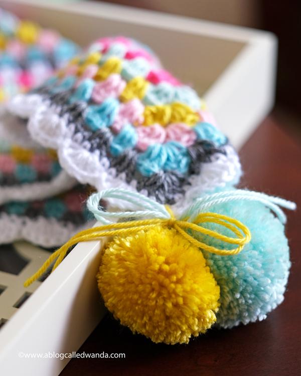 Clover pom pom maker and Caron yarn