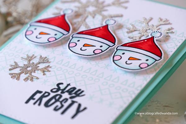 snowman christmas card ellen hutson