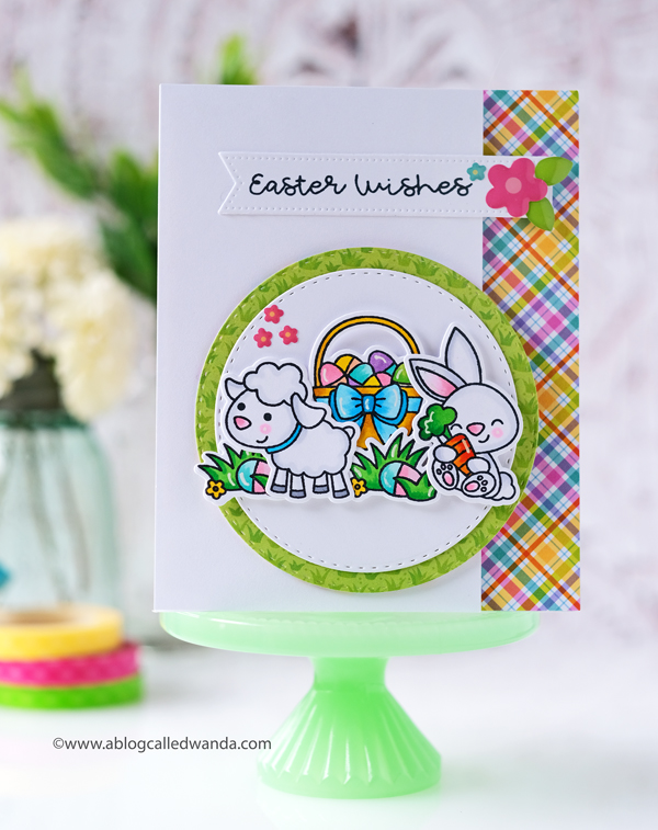 Doodlebug Stamps and Dies for Spring and Easter. Wanda Guess. Copic Markers. Handmade cards.
