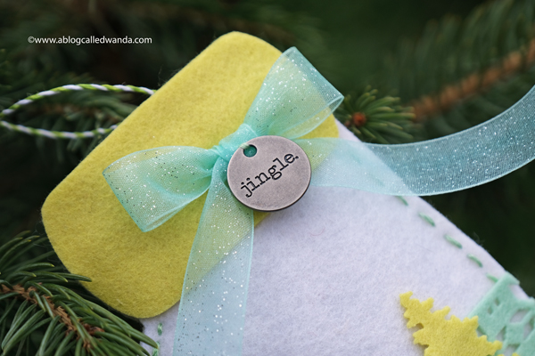 Handmade felt ornaments and gift tags for Christmas