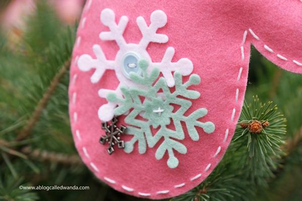 Hand stitched felt ornaments. TE felt