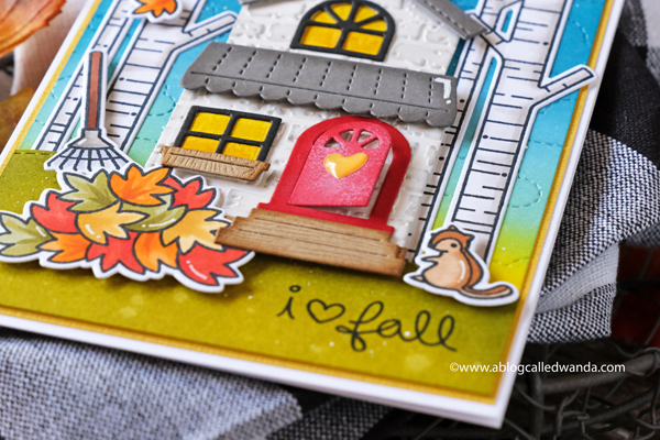 Fall card ideas with Lawn Fawn build a house
