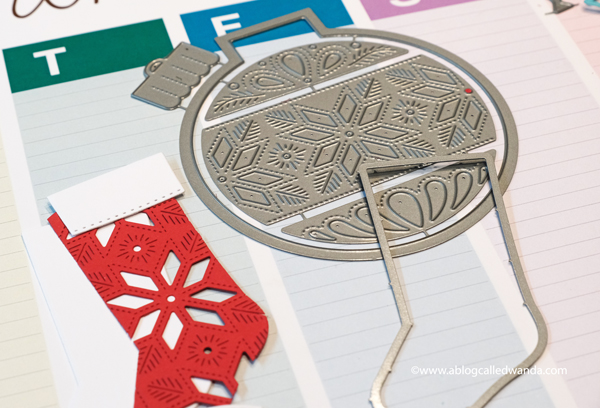 Concord & 9th Stocking Stuffers Christmas Cards. Tall Type Alphabet and Ornamental Dies. Wanda Guess. Christmas card ideas on A Blog Called Wanda