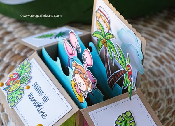 Lawn Fawn Pop Up Box Card. Scalloped pop up.