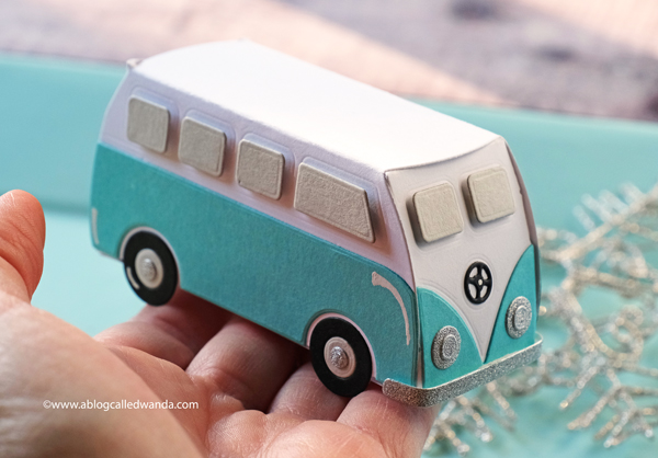 The Greetery Hippie Van 3d treat box