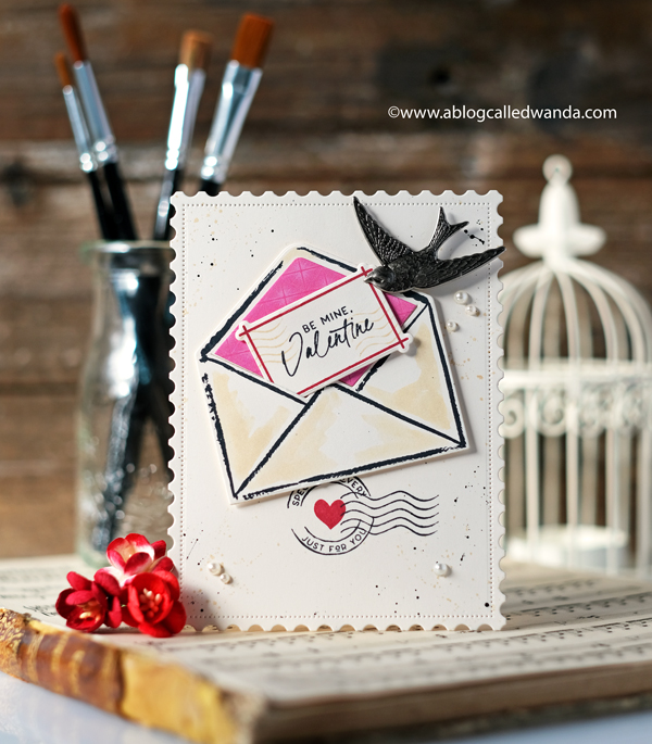Handmade valentine card ideas. Envelopes. Mixed media. The Greetery