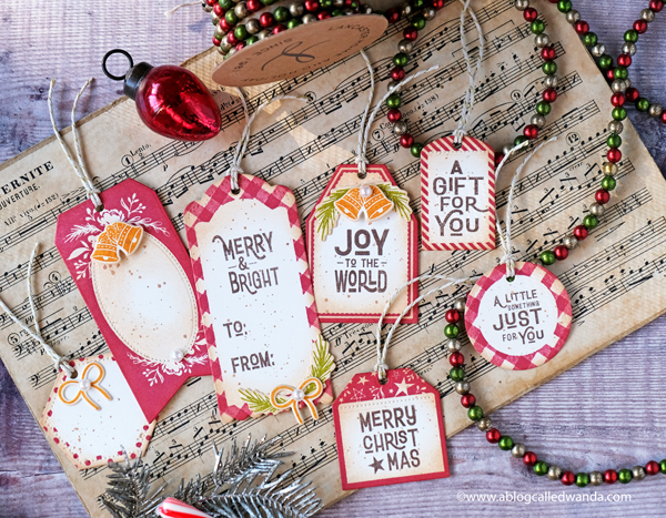 The Greetery by Betsy Veldman. Speed Tagging Collection. Handmade Christmas tags