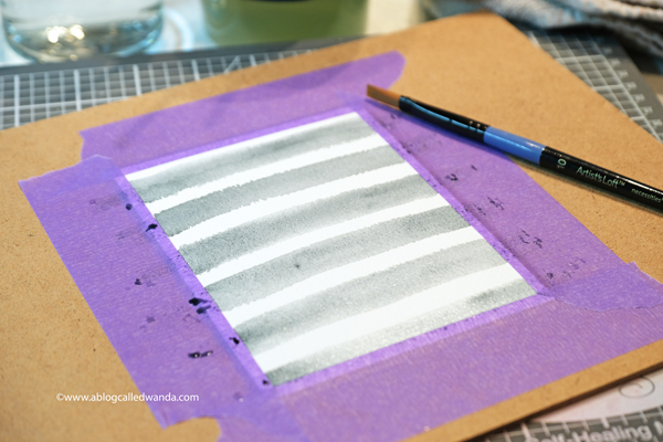 Watercolor stripes background. Mijello Mission watercolors