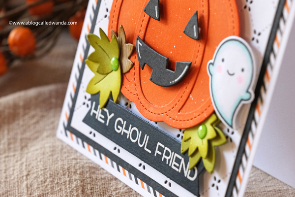 LAWN FAWN FALL HALLOWEEN PUMPKIN CARD