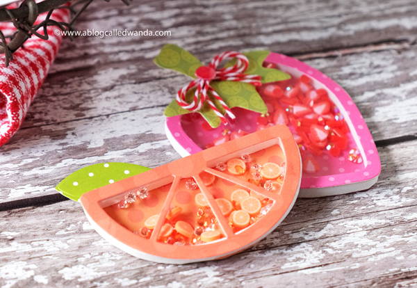 Shaker card tags with fruit theme