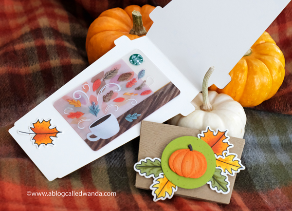 Coffee gift card ideas. rubber stamping and die cutting. Honey Bee Stamps