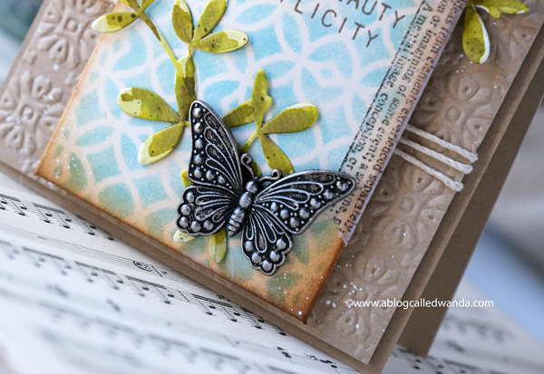 TIM HOLTZ IDEAOLOGY BUTTERFLIES. TIM HOLTZ STENCIL. HANDMADE CARD