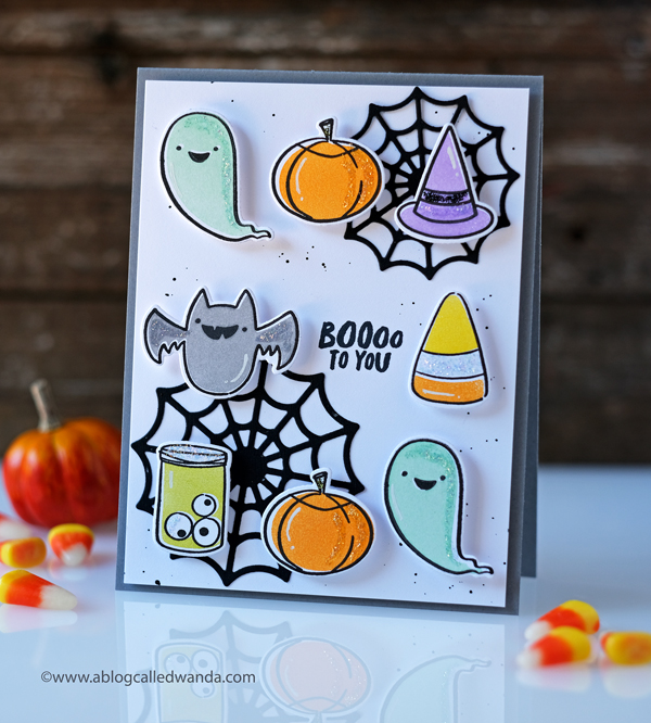ellen hutson halloween stamps and dies happy haunting