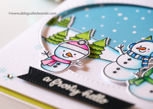 coloring snowmen with Copics