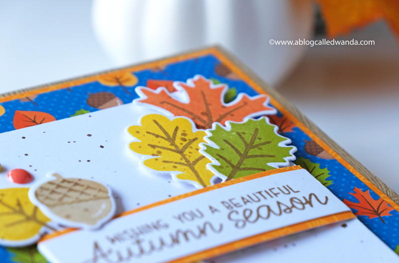 Fall and Autumn card ideas. Fall leaves stamps and dies