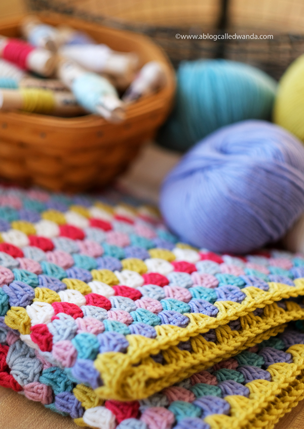 Granny Square Blanket. Debbie Bliss Rialto DK Merino Wool yarn. 4.0 hook. Beginner crochet project ideas. Wanda Guess