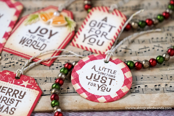 Homemade Christmas tag ideas