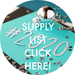 Supply List for New Year Card 2020