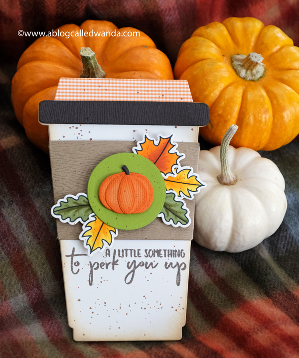 Honey Bee Stamps Coffee Card. Fall. Pumpkin Spice. Coffee card ideas. Wanda Guess