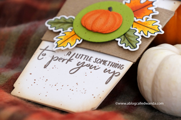 Coffee Card Ideas. Gift card ideas. Pumpkin Spice card. Copics