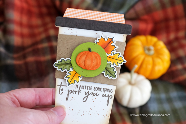 Pumpkin Spice Latte Coffee Card. Honey Bee Stamps